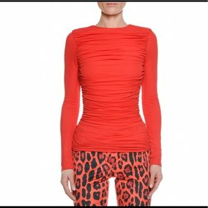 TOM FORD RUCHED VISCOSE CREPE TOP